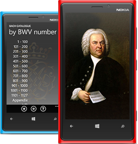 Bach Catalogue app screenshot